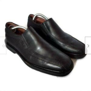 Johnston & Murphy black sheepskin leather shoes